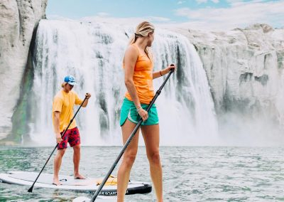Paddle Boarding at Shoshone Falls in Twin Falls, ID