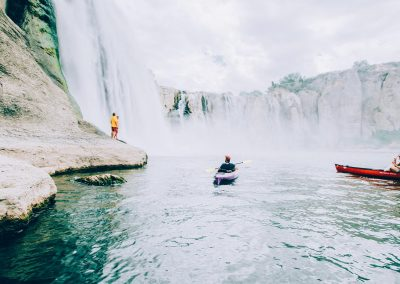 Kayaking at Shoshone Falls in Twin Falls, ID