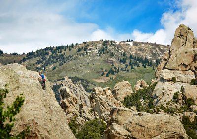 Rock Climbing Castle Rocks State Park in Almo, ID